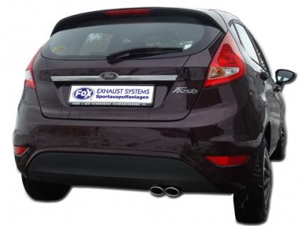 Fox Auspuff Sportauspuff Komplettanlage Ford Fiesta VII/ Fiesta VII Sport 1, 2l