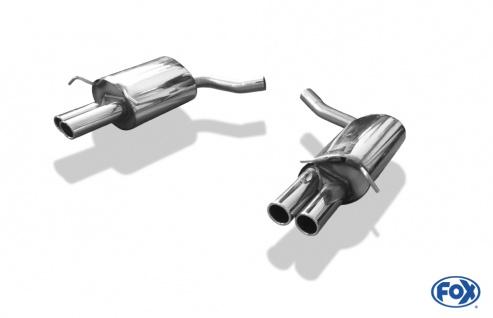 Fox Duplex Auspuff Sportauspuff Endschalldämpfer Mercedes E-Klasse Coupe/ Cabrio