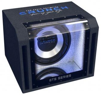 "CRUNCH 25cm Subwoofer 10"" Sub 700 Watt Bandpass Endstufe Basskiste PKW GTS350"