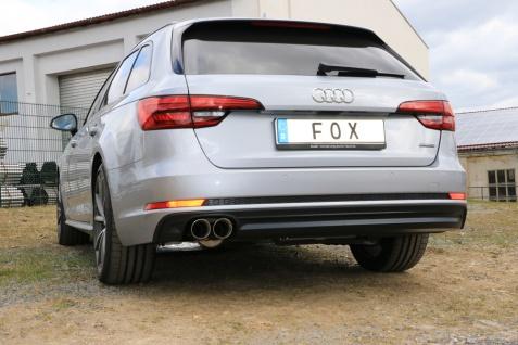 Fox Auspuff Sportauspuff Sportendschalldämpfer Audi A4 quattro B9 Limo/ Avant