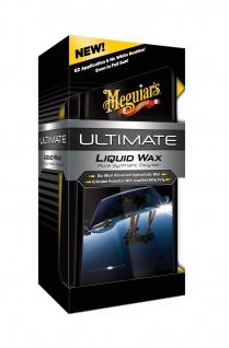 Meguiars Ultimate Liquid Wax Autowachs + Pad u. Microfiber Towel G18216EU 473ml