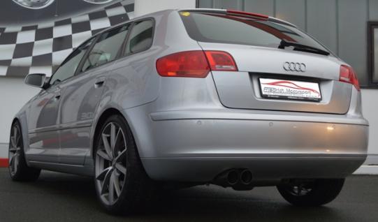 Friedrich Motorsport 76mm Auspuff Sportauspuff Anlage Audi A3 8P Sportback