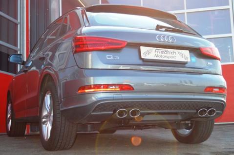 Friedrich Motorsport Duplex Auspuff Sportauspuff Auspuff Audi Q3 8U Frontantrieb