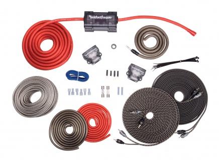 ROCKFORD FOSGATE4 AWG RFK4D High End Kabelkit 20 mm² für zwei Verstärker