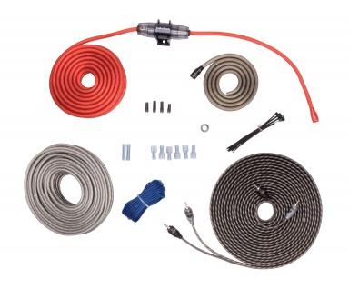 ROCKFORD FOSGATE KABELKIT 8 AWG RFK8X 8 Spur Verstärker Power Kabel Montagesatz