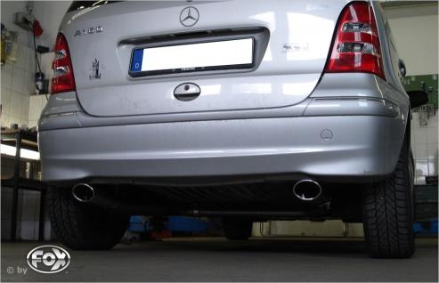 Fox Duplex Auspuff Sportauspuff Endrohrsystem Mercedes A-Klasse/ Class 168 1, 4l