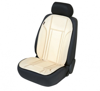 Sitzauflage Sitzaufleger Ravenna beige Kunstleder Sitzschoner Lancia Delta
