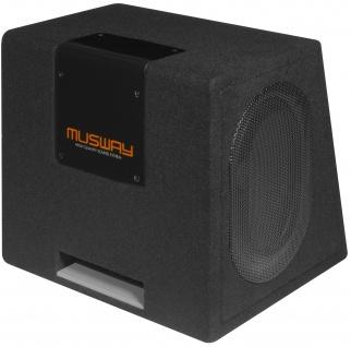 MUSWAY Single Bassreflex-Gehäusesub MT-169Q Subwoofer Bassbox 400W