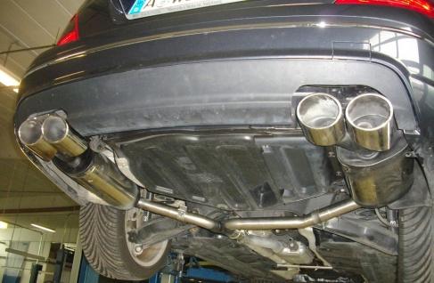 Fox Duplex Auspuff Sportauspuff Endschalldämpfer Mercedes C-Klasse C180/C200 - Vorschau 3
