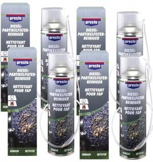4x Presto Dieselpartikelfilter Reiniger DPF Reiniger mit Sonde 400 ml Rußfilter