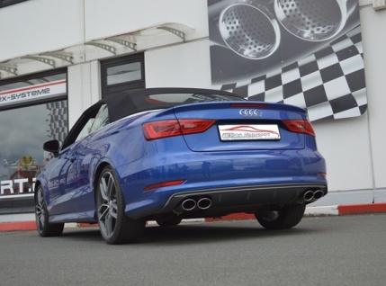 Friedrich Motorsport 76mm Duplex Sportauspuff Anlage Klappensteuerung Audi S3 8V