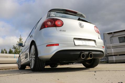 Fox Auspuff Sportauspuff mittig VW Golf V - R32 3, 2l 184kW ohne Klappe