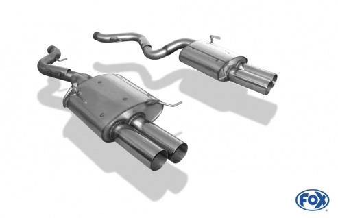 Fox Duplex Auspuff Sportauspuff Endschalldämpfer BMW E92/E93 4.0l M3 2x90 Typ 10