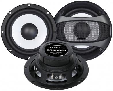 CRUNCH Subwoofer Set GTI-6.2W Auto Gehäuse Bassrolle Bassbox Röhre 100/200 Watt
