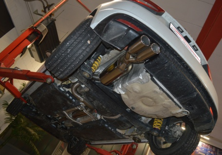Friedrich Motorsport 70mm Sportauspuff Auspuff Anlage Audi A1 und Sportback