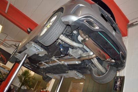 Streetbeast Sportauspuff 76mm Duplex-Anlage Klappensteuerung Mercedes W176 2015-