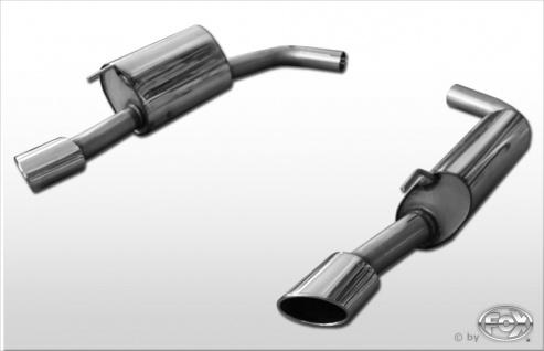 Fox Duplex Auspuff Sportauspuff Komplettanlage Jaguar XK8/ XKR QEV/ QDV Coupe/