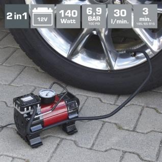 Dino KRAFTPAKET Druckluft Kompressor 12V Luftkompressor Luftpumpe Minikompressor - Vorschau 2