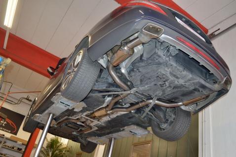 Friedrich Motorsport 2x76mm Sportauspuff Anlage Mercedes C/X218 S/W212 CLS Coupe