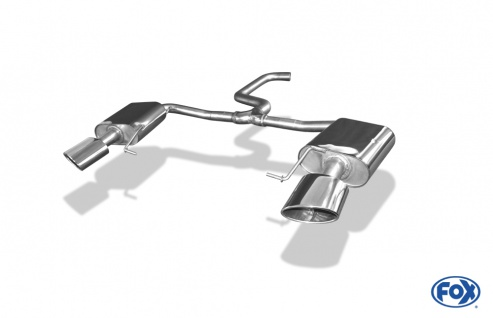 Fox Duplex Sportauspuff Endschalldämpfer Seat Leon ST 5F Cupra 300 4x4 2, 0 221kW