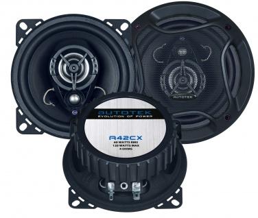 AUTOTEK Koax-System 10cm Lautsprecher 2-Wege Koax 10cm A42CX 240 Watt max.Paar