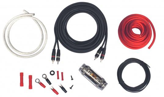 ROCKFORD FOSGATE 10 mm² RFK10 Kabelset 10mm Kabelkit Stromkabel 12V Auto PKW KFZ