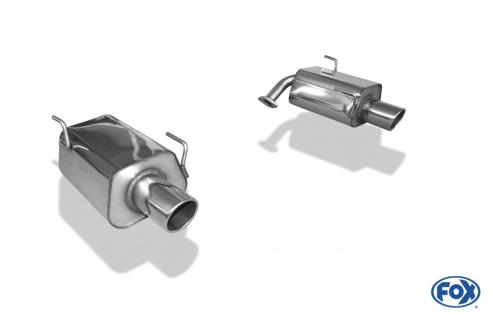 Fox Duplex Auspuff Sportauspuff Endschalldämpfer für Subaru Forester - SH 2, 0l
