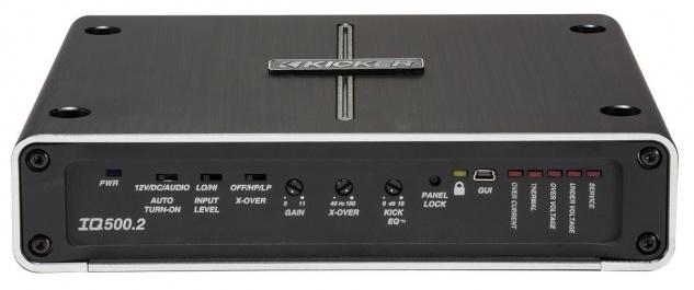 KICKER 2-Kanal Verstärker Class-D 2 Channel Amplifier IQ500.2 mit DSP