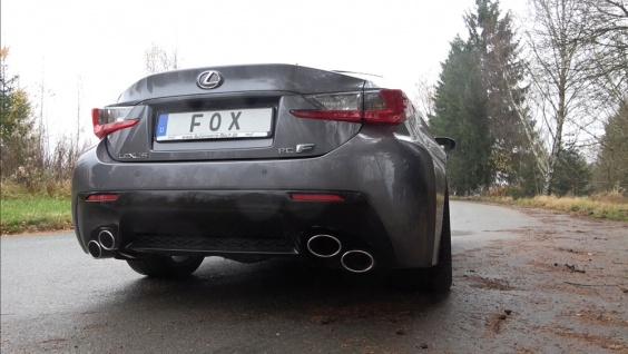Fox Duplex Auspuff Sportauspuff Komplettanlage Lexus RC F 5, 0l 351kW ab 2014