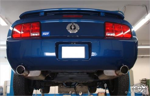 Fox Auspuff Sportauspuff Duplex Sportendschalldämpfer Ford Mustang GT Coupe