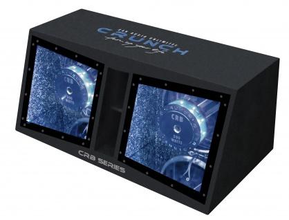 CRUNCH Dual Bass Woofer Bandpass Gehäuse Subwoofer Bassbox 2x30cm CRB-1000