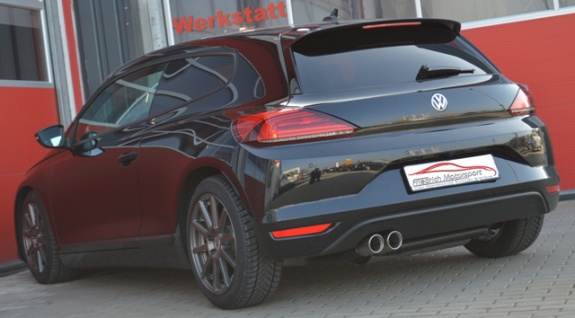 Friedrich Motorsport Auspuff Sportauspuff Endschalldämpfer VW Scirocco III 2.0