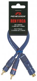 RENEGADE CINCH Y-Adapter Carhifi 2 Stecker auf 1 Buchse RENYRCA