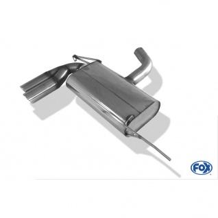 Fox Auspuff Sportauspuff Sportendschalldämpfer VW Golf V GTD 2, 0 TDI 125kW
