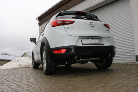Fox Duplex Auspuff Sportauspuff Endschalldämpfer Mazda CX3 - DK AWD 2, 0l 110kW