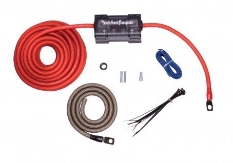 ROCKFORD FOSGATE KABELKIT 4 AWG RFK4 Installation Kabel Set Dual Verstärker