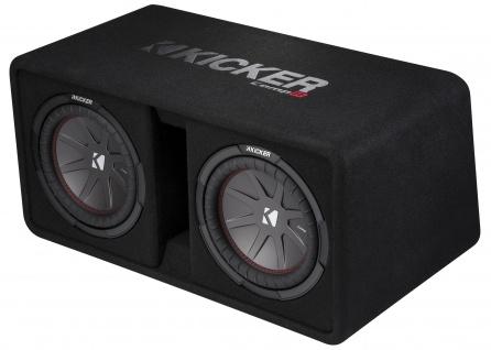 KICKER Dual-Bassreflexbox DCompR10 2x25cm Dual Subwoofer 1.600 Watt MAX
