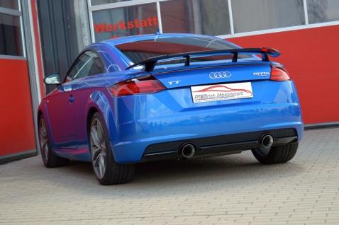 Friedrich Motorsport 76mm Duplex Sportauspuff Anlage Audi TT 8S Quattro 2.0 TFSI