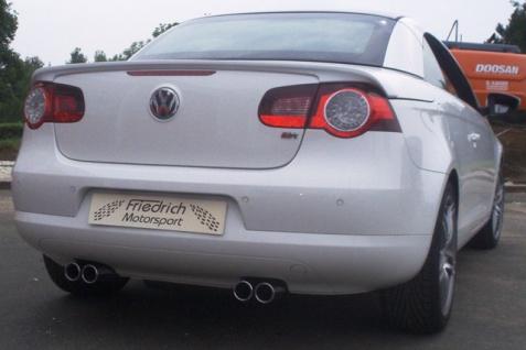 Friedrich Motorsport Gruppe A Duplex Sportauspuff Anlage VW EOS 2.0l TDI 103kW