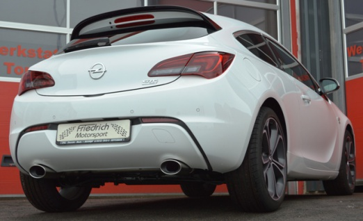 Friedrich Motorsport Gruppe A Duplex Auspuff Sportauspuff Opel Astra J GTC 2011 1.4 74kW