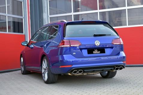 Streetbeast Sportauspuff 76mm Duplex-Anlage Klappensteuerung VW Golf VII Variant