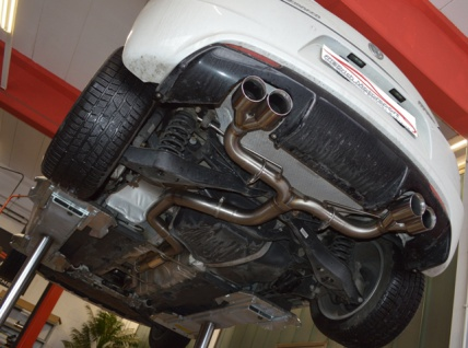 Friedrich Motorsport 76mm Duplex Sportauspuff Auspuff Anlage VW Scirocco III