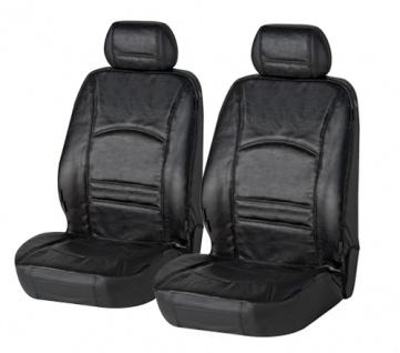 Sitzbezug Sitzbezüge Schonbezug Ledersitzbezug aus echtem Leder schwarz