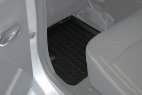 Carbox FLOOR Fußraumschale Gummimatte Fußmatte Dacia Lodgy hinten durchgehend