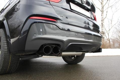 Fox Duplex Auspuff Sportauspuff Endschalldämpfer BMW X4 F26 - 20d/ 30d