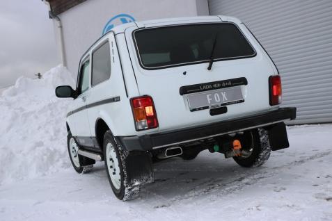 Fox Auspuff Sportauspuff Endschalldämpfer Lada Niva 4x4 1, 6l 61kW