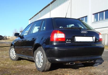 Fox Duplex Auspuff Sportauspuff Sportendschalldämpfer Audi A3 Typ 8L quattro