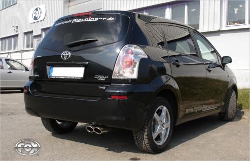 Fox Auspuff Sportauspuff Endschalldämpfer Toyota Corolla Verso Diesel Bj. ab 04
