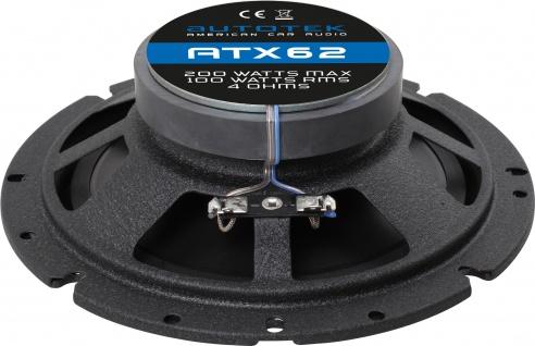 AUTOTEK Koax-System 16, 5 cm Lautsprecher 2-Wege Koax ATX-62 400 Watt max.Paar