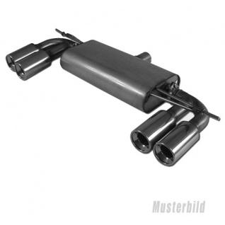 Fox Duplex Auspuff Sportauspuff Endschalldämpfer für Subaru Impreza Typ WRX/STI